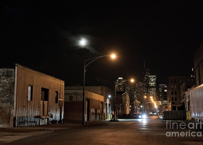Building Greeting Card featuring the photograph Dark City II by Bruno Passigatti