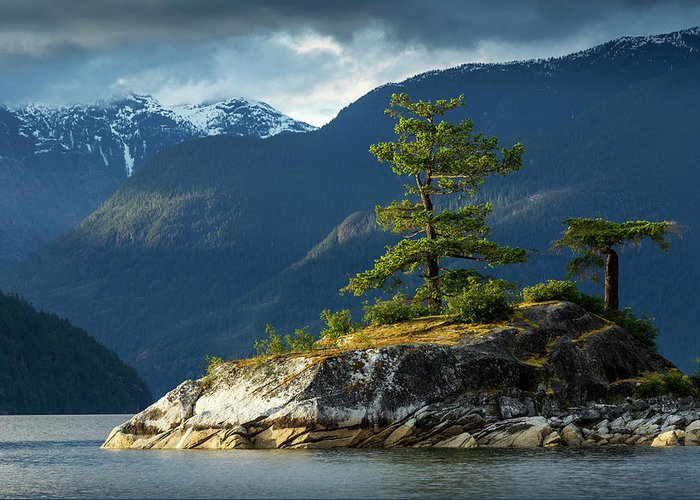 Scenics Greeting Card featuring the photograph Desolation Sound, Bc, Canada by Paul Souders