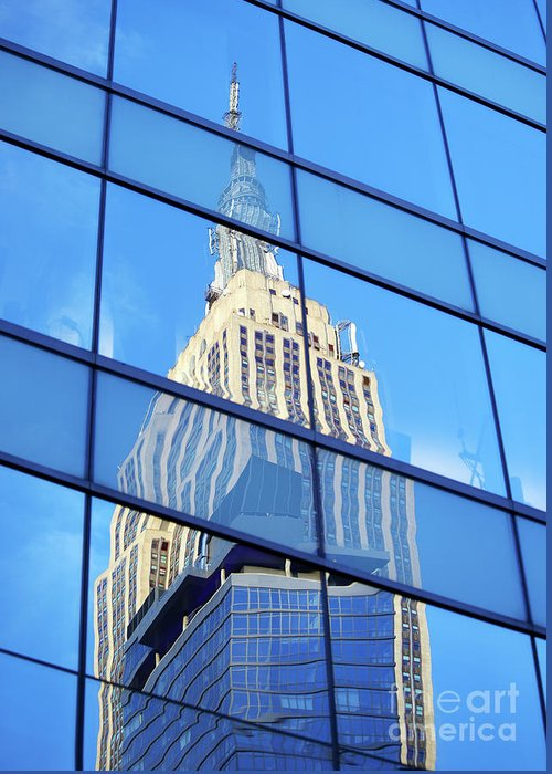 Empire State Building Greeting Card featuring the photograph Empire State Building by Tony Cordoza