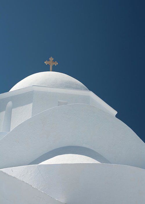 Greek Culture Greeting Card featuring the photograph Greek Chapel by Deimagine