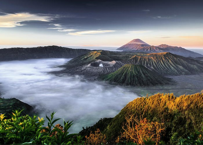 Scenics Greeting Card featuring the photograph Indonesia Mount Bromo by Frederic Huber Photography
