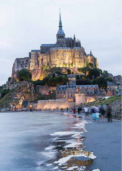 Mont Saint-michel Greeting Card featuring the photograph Le Mont Saint Michel, Normandy, France by John Harper