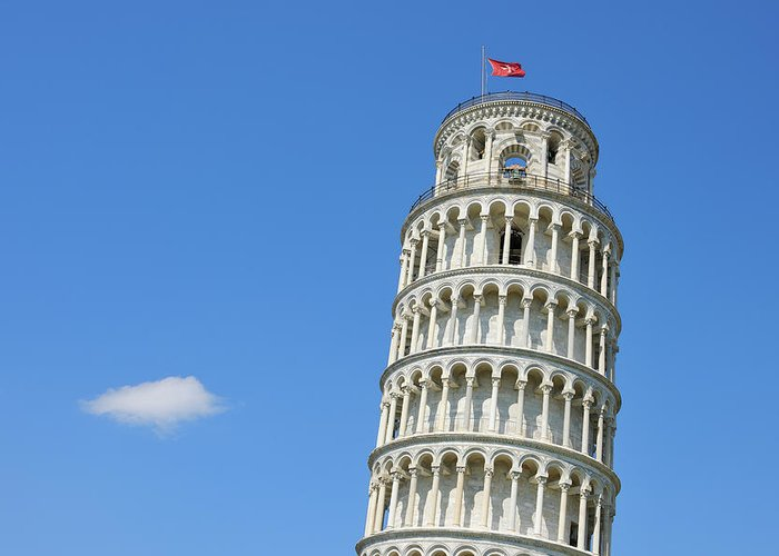 Arch Greeting Card featuring the photograph Leaning Tower Of Pisa by Martin Ruegner