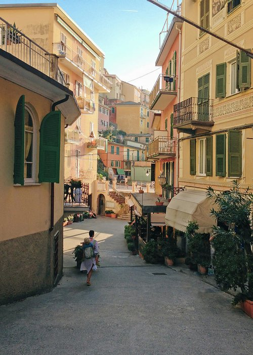 Toddler Greeting Card featuring the photograph Manarola Italy by M Swiet Productions