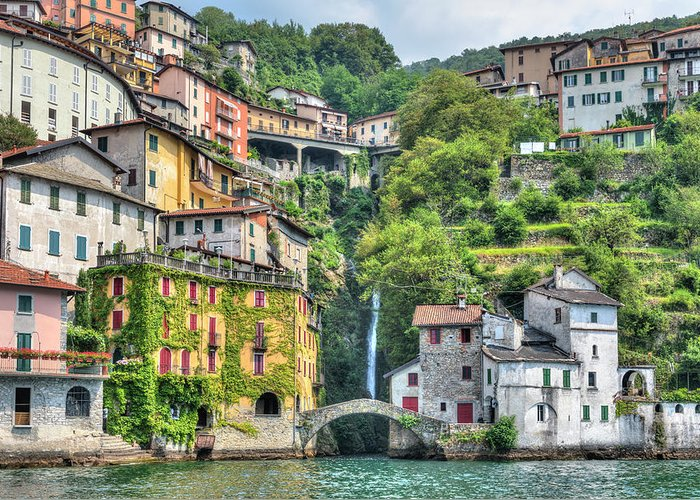 Nesso Greeting Card featuring the photograph Nesso - Italy 1 by Joana Kruse