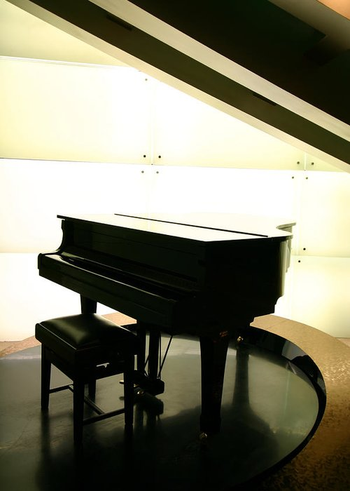 Piano Greeting Card featuring the photograph Piano by Peterhung101