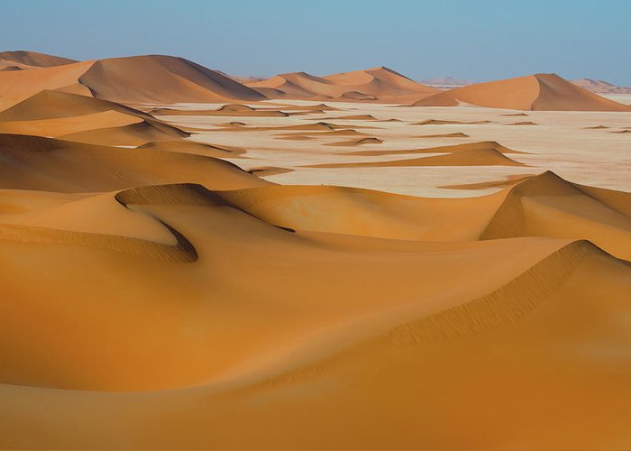 Tranquility Greeting Card featuring the photograph Rub Al-khali Empty Quarter by All Rights Reserved For Ahmed Al-shukaili