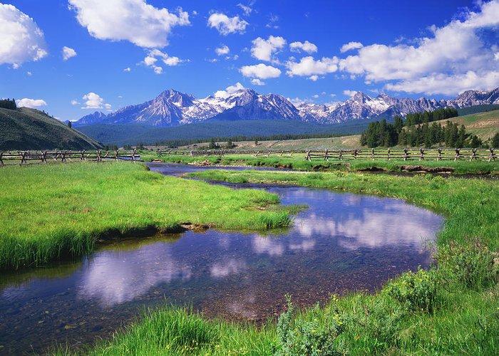 Scenics Greeting Card featuring the photograph Sawtooth Mountain Range, Idaho by Ron thomas