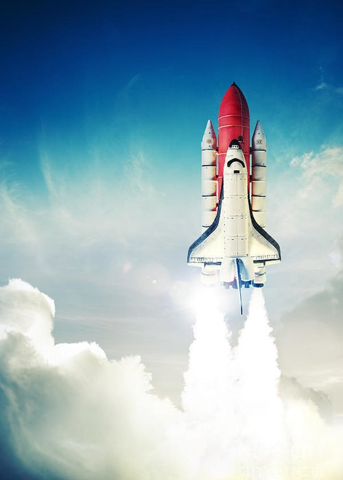 Space Shuttle Photographs Greeting Cards