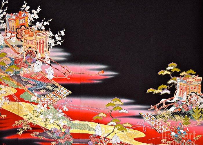 Greeting Card featuring the digital art Spirit of Japan T81 by Miho Kanamori