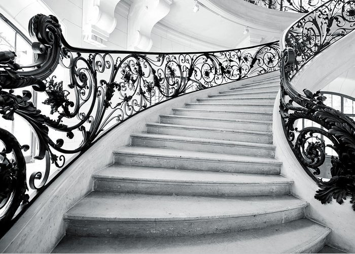 Steps Greeting Card featuring the photograph Staircase In Paris by Nikada