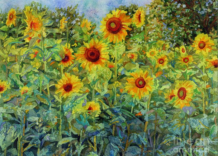 Sunflower Greeting Card featuring the painting Sunny Sundance by Hailey E Herrera