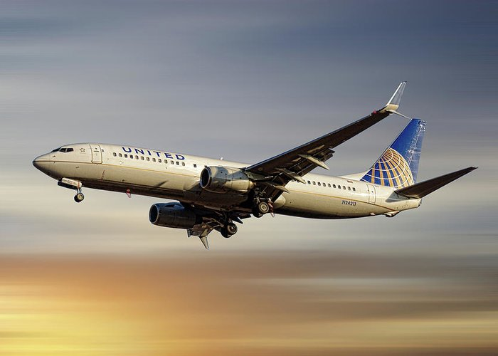 United Airlines Greeting Cards