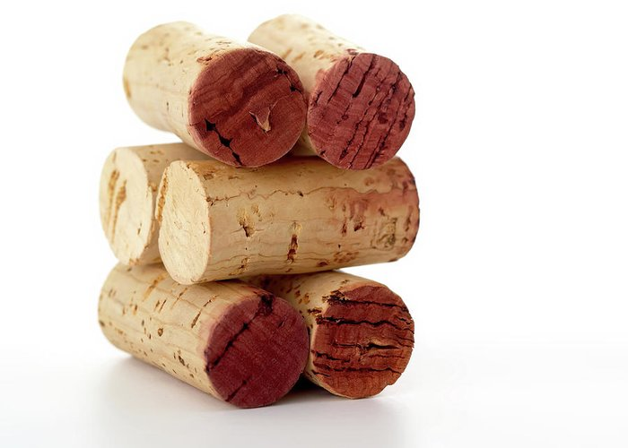 White Background Greeting Card featuring the photograph Wine Corks Serie Of 28 Images by Luso