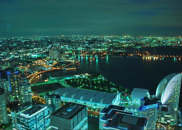 Yokohama Greeting Card featuring the photograph Yokohama by Copyright Artem Vorobiev