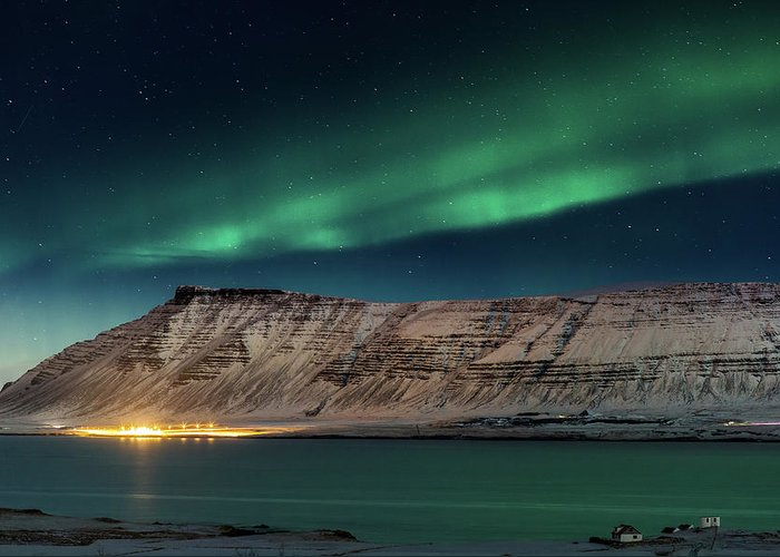 Scenics Greeting Card featuring the photograph Aurora Borealis Or Northern Lights by Arctic-images