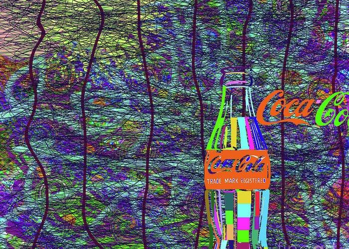 Walter Paul Bebirian: The Bebirian Art Collection Greeting Card featuring the digital art 11-2-2012gabcdefghijklmnopqrtu by Walter Paul Bebirian