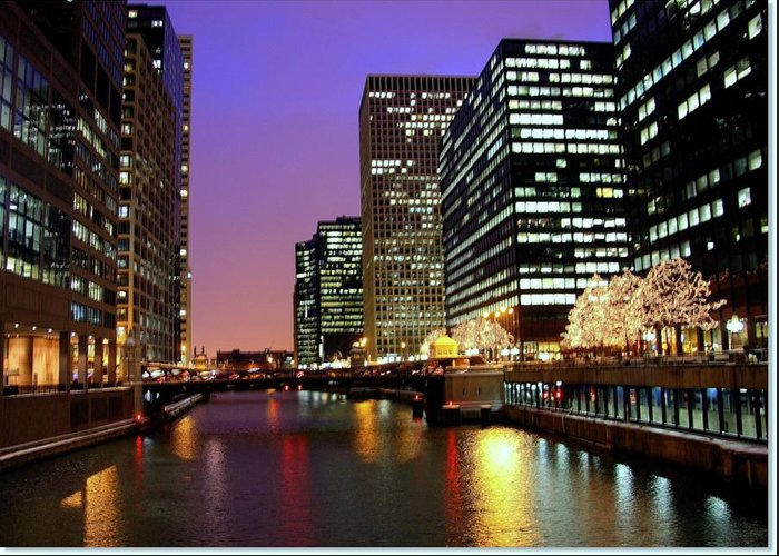 Chicago River Greeting Card featuring the photograph Chicago by J.castro