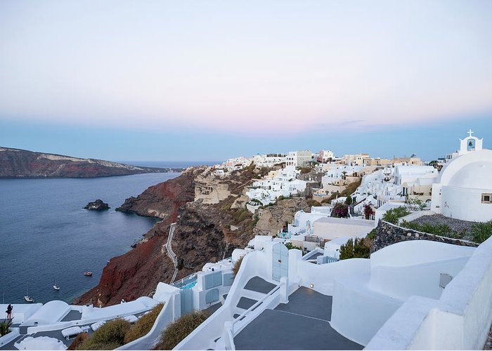 Tranquility Greeting Card featuring the photograph Santorini Greece by Neil Emmerson