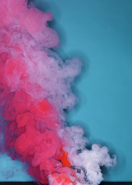 Motion Greeting Card featuring the photograph Colored Smoke by Henrik Sorensen