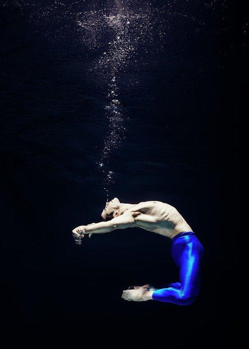 Ballet Dancer Greeting Card featuring the photograph Ballet Dancer Underwater by Henrik Sorensen