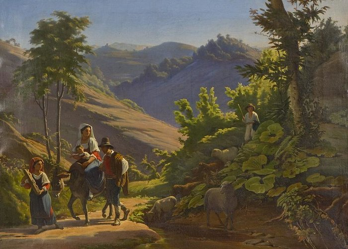 Johan Blackstadius (1816-1898) Greeting Card featuring the painting Landscape by MotionAge Designs