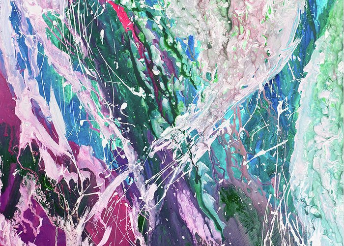 Art Greeting Card featuring the digital art Abstract Background by Balticboy
