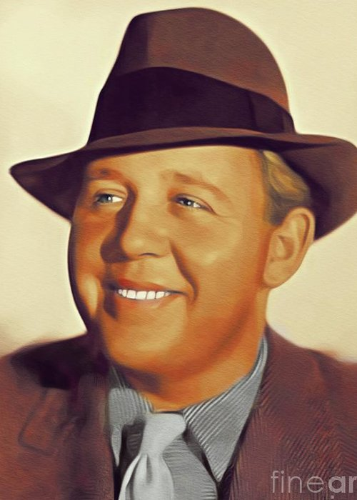 Charles Greeting Card featuring the painting Charles Laughton, Vintage Actor by John Springfield