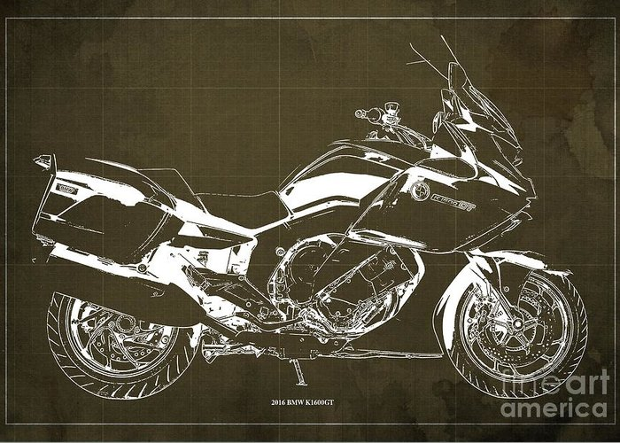 Moto Blueprint Greeting Cards