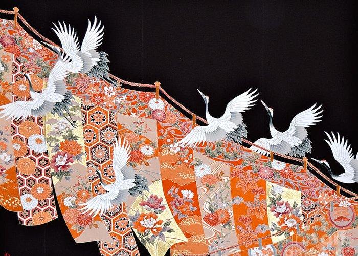Greeting Card featuring the digital art Spirit of Japan T42 by Miho Kanamori
