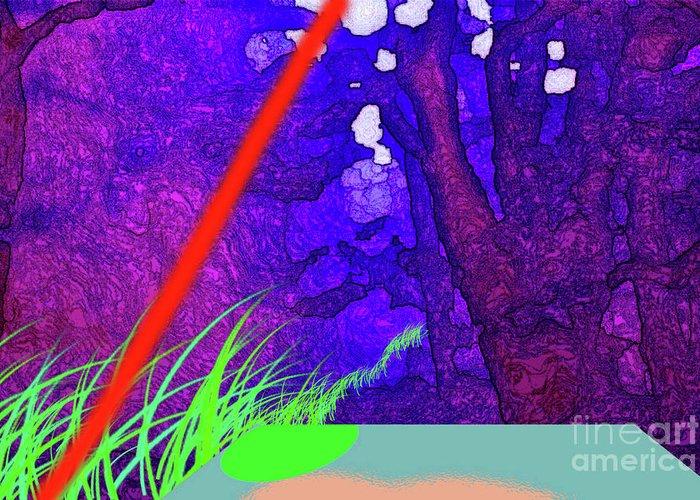 Walter Paul Bebirian Greeting Card featuring the digital art 3-24-2009abcdefghijklm by Walter Paul Bebirian