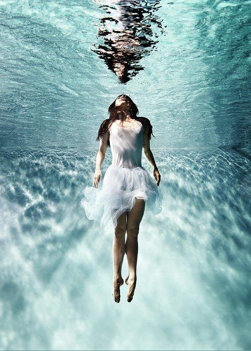 Ballet Dancer Greeting Card featuring the photograph Underwater Ballet by Henrik Sorensen