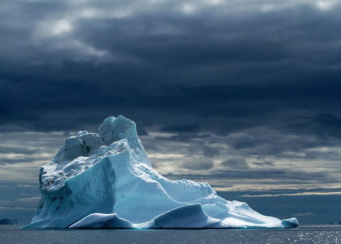 Tranquility Greeting Card featuring the photograph Icebergs, Disko Bay, Greenland by Paul Souders