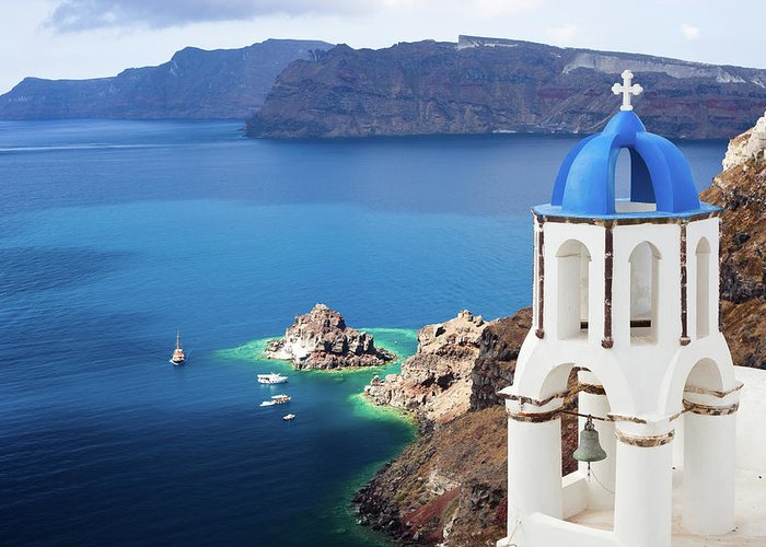 Greek Culture Greeting Card featuring the photograph Santorini, Greece by Traveler1116