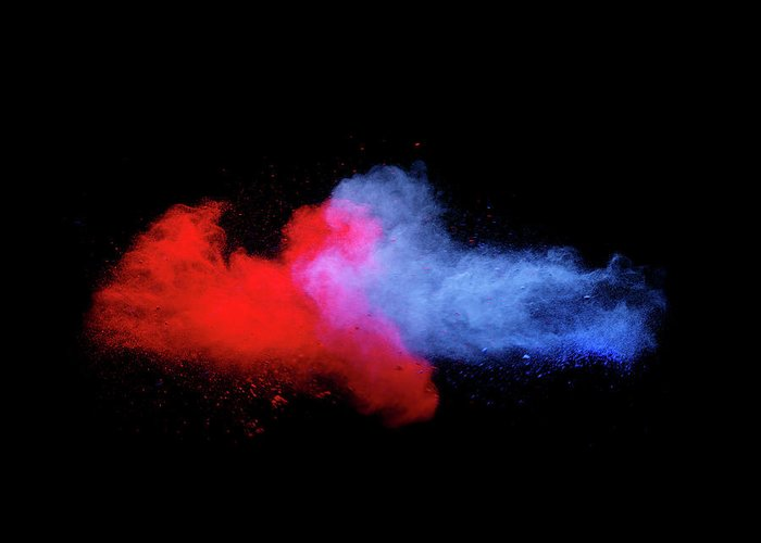 Copenhagen Greeting Card featuring the photograph Explosion Of Colored Powder by Henrik Sorensen