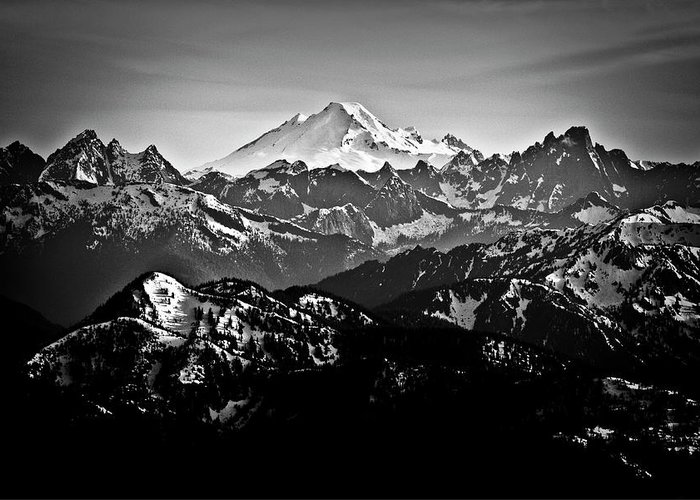 Tranquility Greeting Card featuring the photograph Mount Baker by Christopher Kimmel
