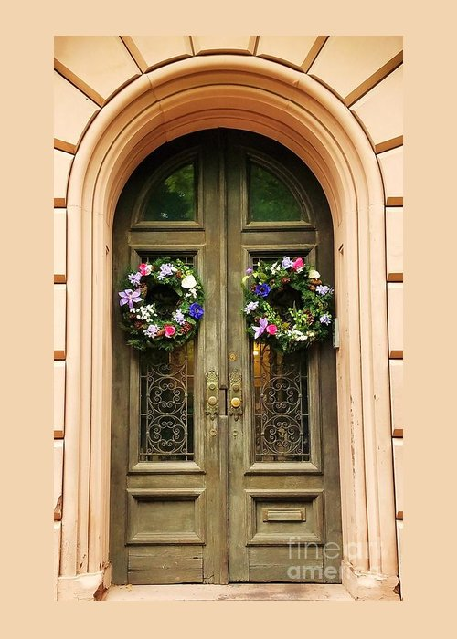Mount Vernon Greeting Card featuring the photograph A Doorway In Mount Vernon In Spring by Marcus Dagan