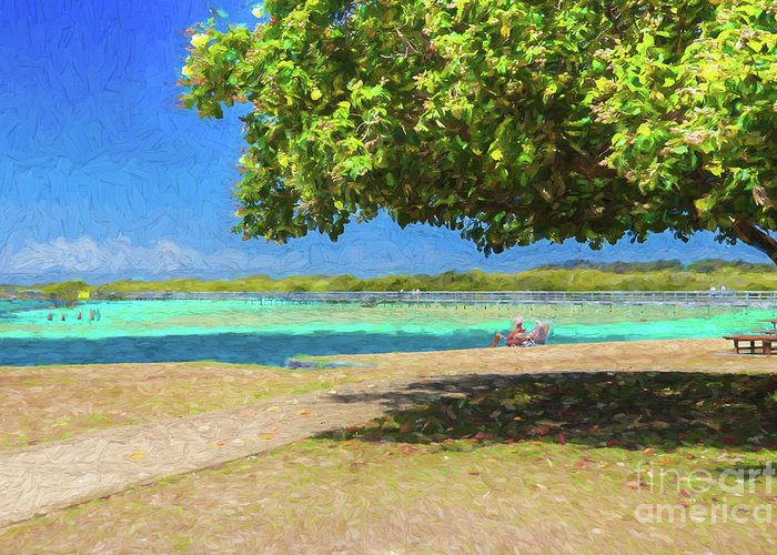 Beach Greeting Card featuring the photograph A Shady Spot Ignored by Sheila Smart Fine Art Photography