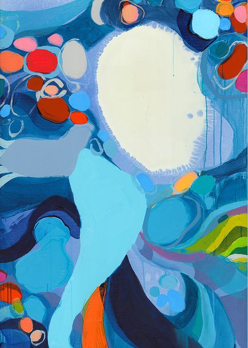 Abstract Greeting Card featuring the painting A Woman Named Emory by Claire Desjardins