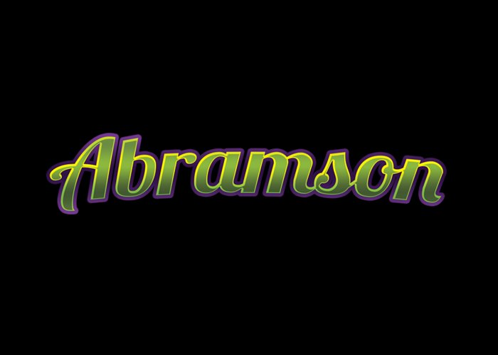 Abramson Greeting Card featuring the digital art Abramson #abramson by TintoDesigns