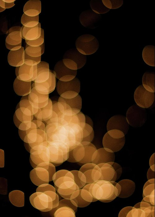 Funky Greeting Card featuring the photograph Abstract Lights by Miss pj