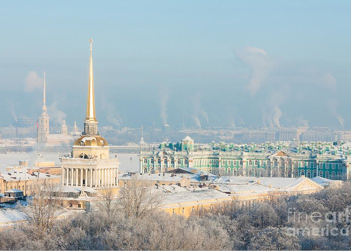 City Greeting Card featuring the photograph Admiralty, Hermitage, Peter And Paul by Solodov Aleksei