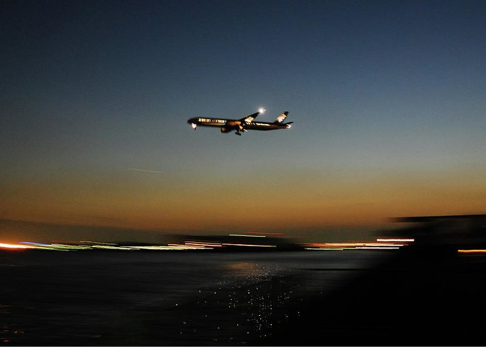 Outdoors Greeting Card featuring the photograph Airplane by Takeshi.k
