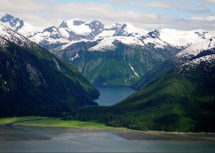 Extreme Terrain Greeting Card featuring the photograph Alaska From The Air by Groveb