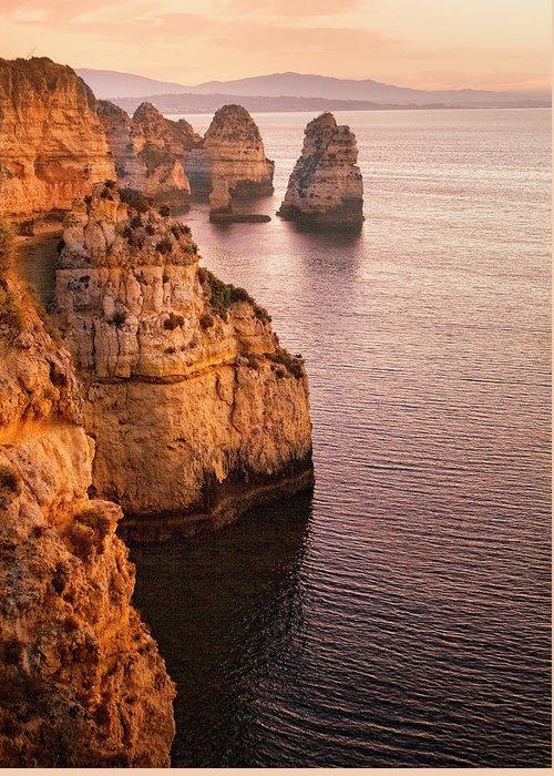Algarve Greeting Card featuring the photograph Algarve Coastline, Lagos, Portugal by Zu Sanchez Photography
