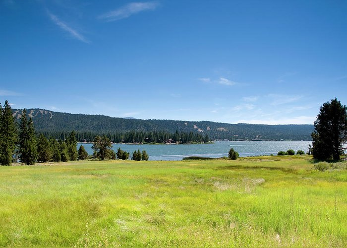 Scenics Greeting Card featuring the photograph Alpine Mountian Lake And Meadow by Alynst