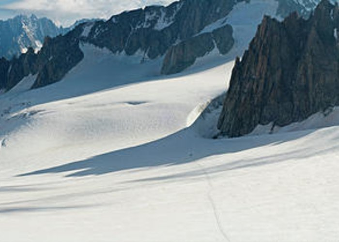 Scenics Greeting Card featuring the photograph Alps Mont Blanc Vall&233e Blanche by Fotovoyager