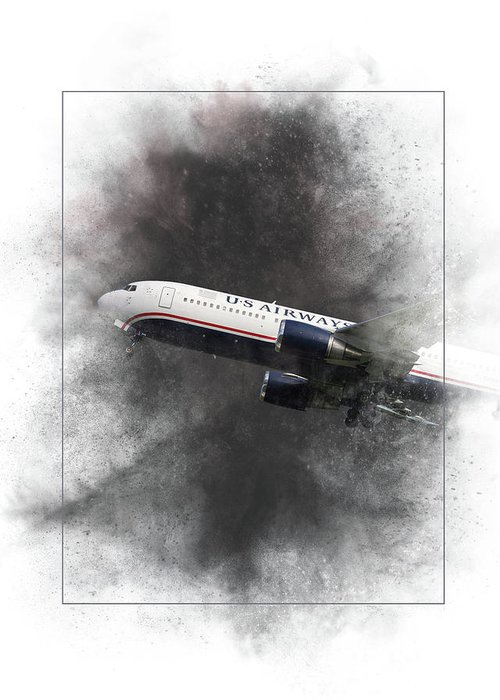 American Greeting Card featuring the mixed media American Airlines Boeing 767-200 Painting by Smart Aviation