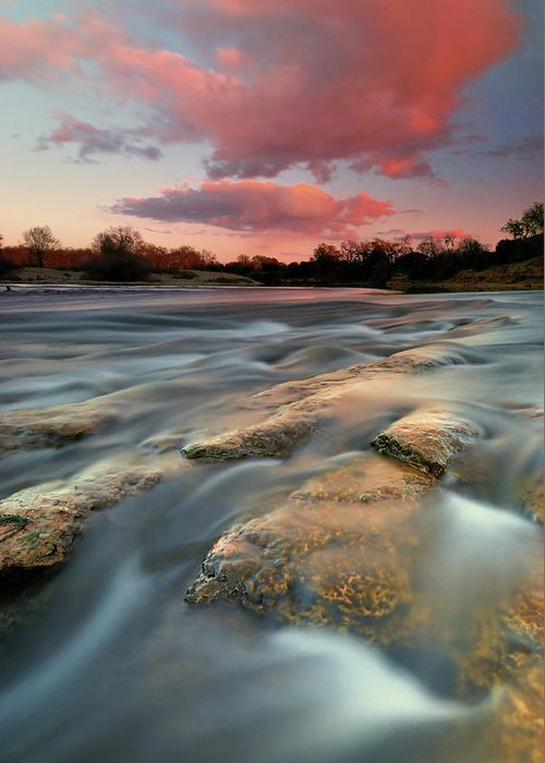 Scenics Greeting Card featuring the photograph American River Parkway At Sunset by David Kiene
