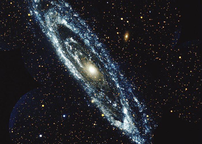 Outdoors Greeting Card featuring the photograph Andromeda Galaxy by Stocktrek